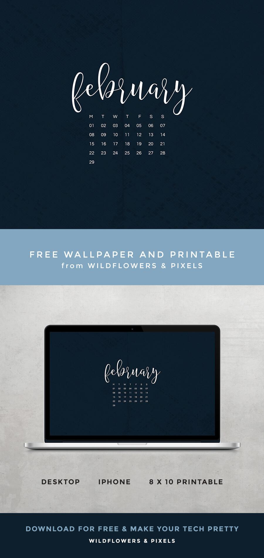 February Free Wallpaper & Printable