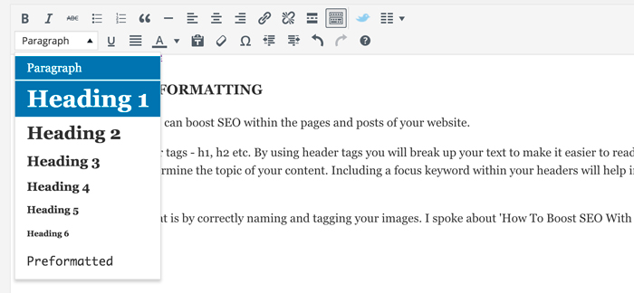 Adding header tags is easy in WordPress.