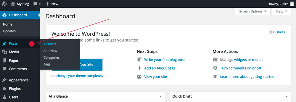 How To Post A Blog On WordPress