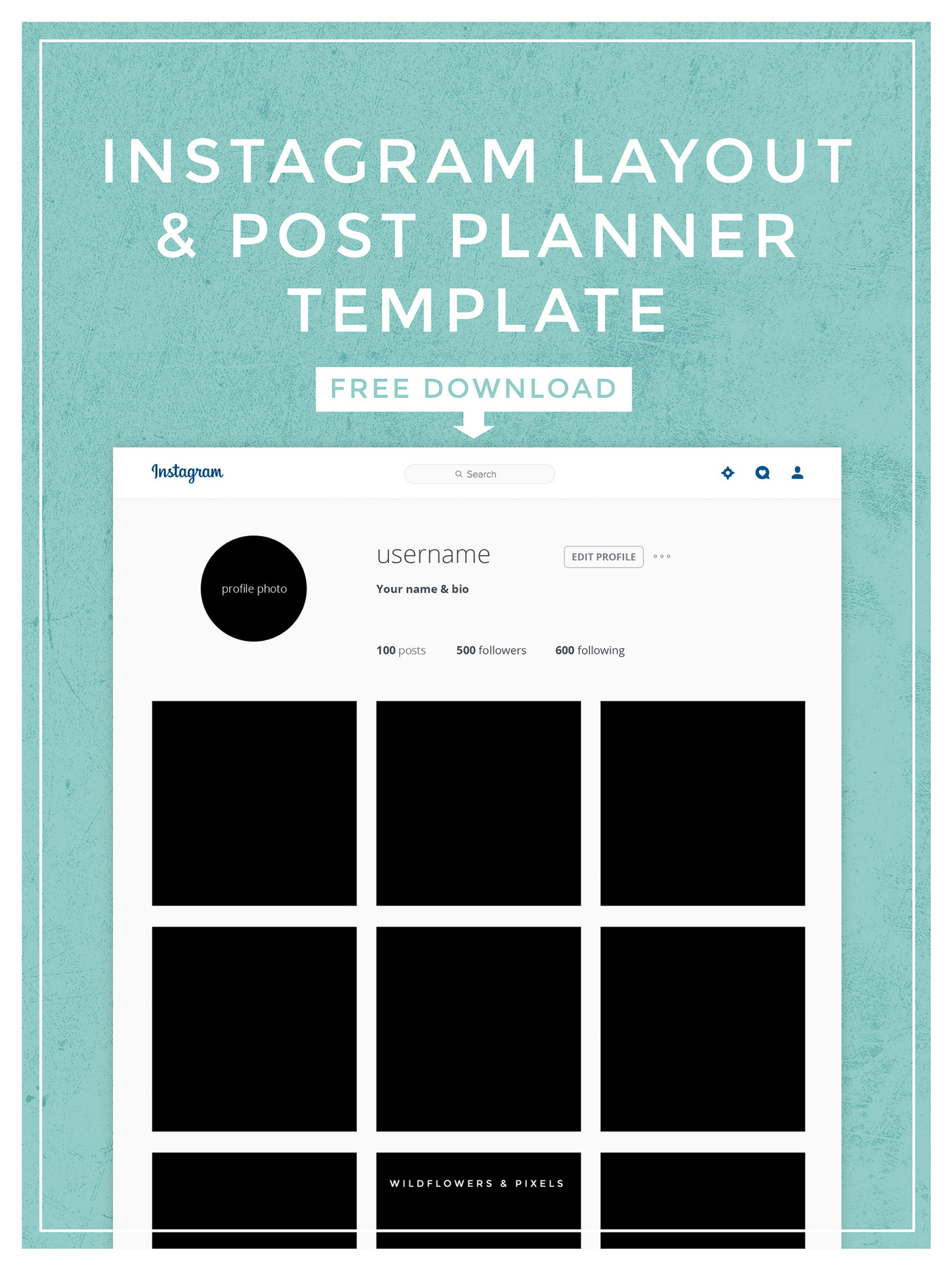 Instagram layout post planner template for Free instagram template
