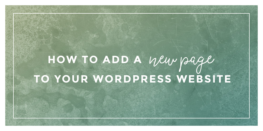 wordpress how to add code to a page