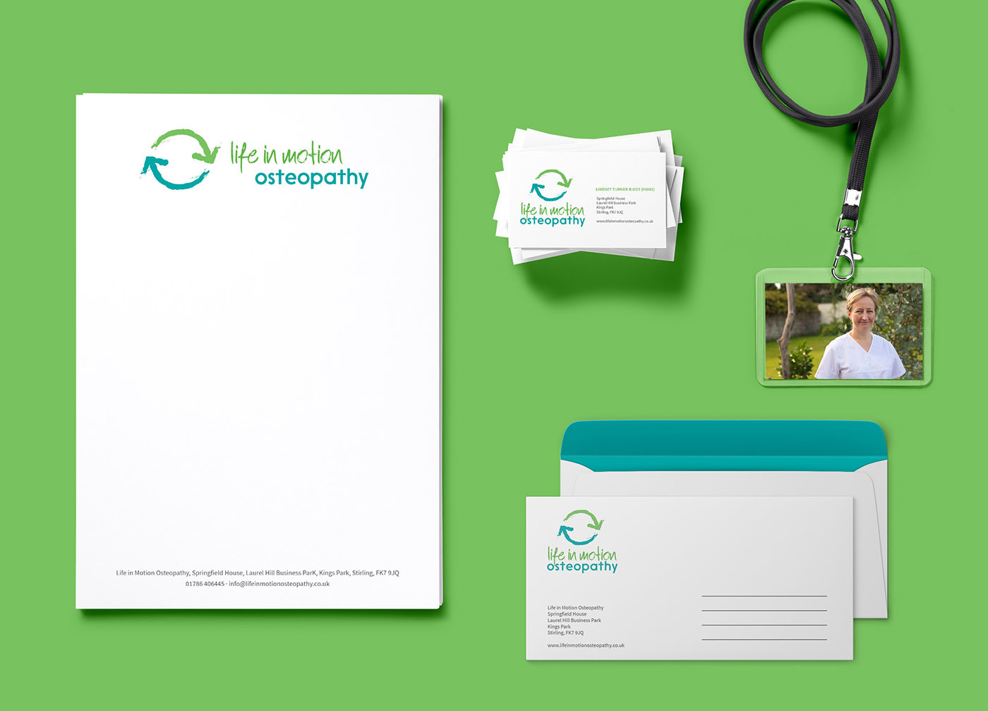 Logo Design & Branding in Stirling for Life In Motion Osteopathy