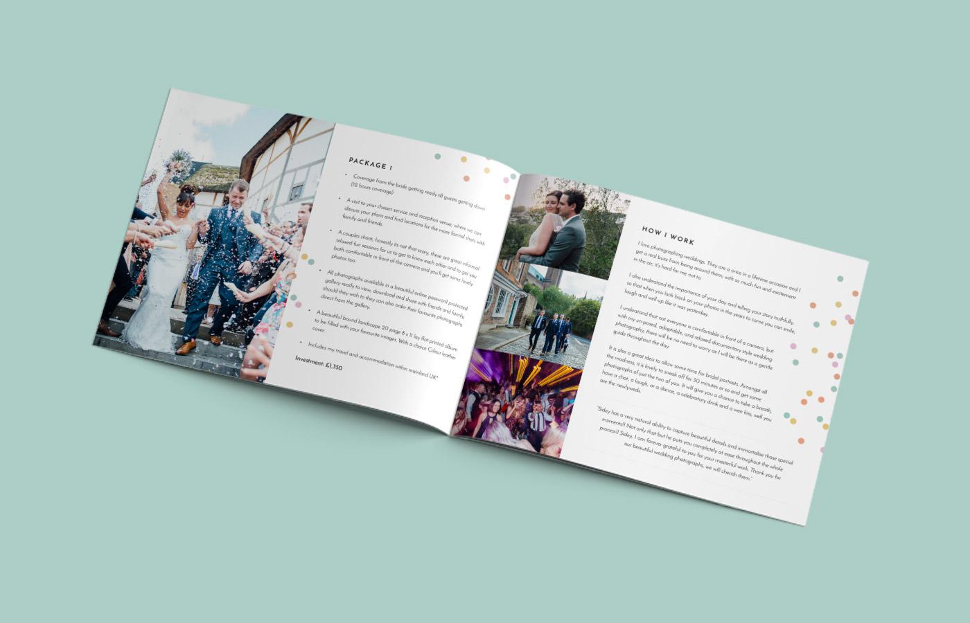 A4 landscape brochure design