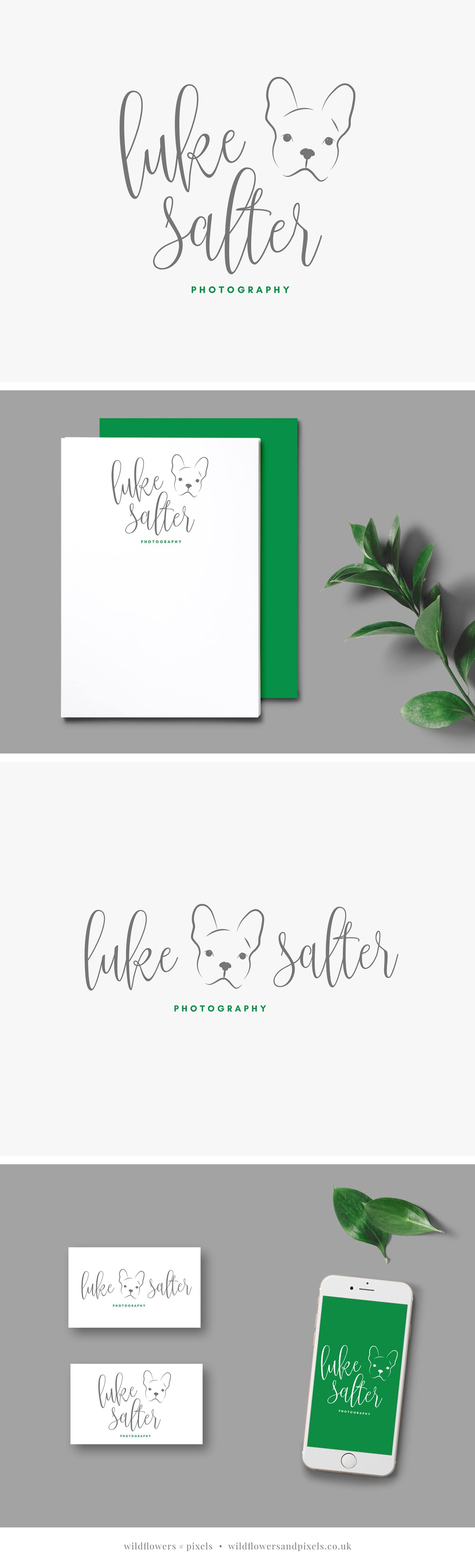 Branding for Luke Salter Photography by Wildflowers & Pixels. Pet photography logo design and branding.